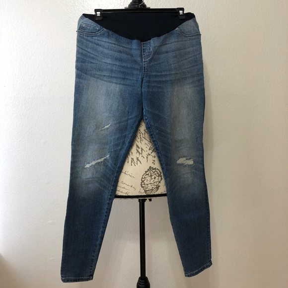 6c6af98fb56c4 Clothing, Shoes & Accessories Maternity NEW Womens Maternity Denim Jeans  Boot Cut Liz Lange NWT Size ...